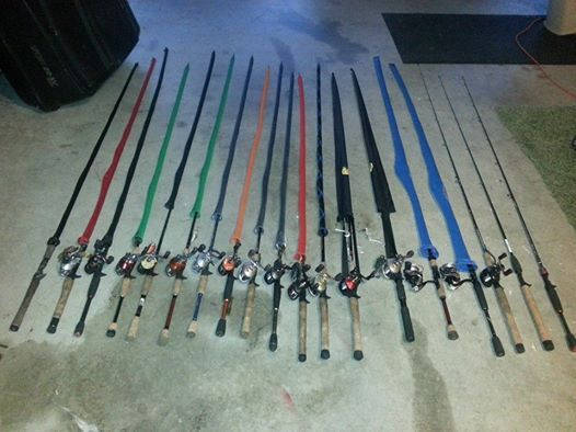Tfo bass pro carrot stix rods for sale reduced for Fishing rod socks