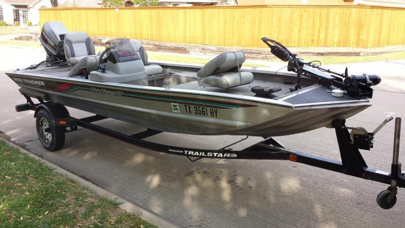 1996 aluminum bass tracker pt17 4000 trading post for Best aluminum fishing boat for the money