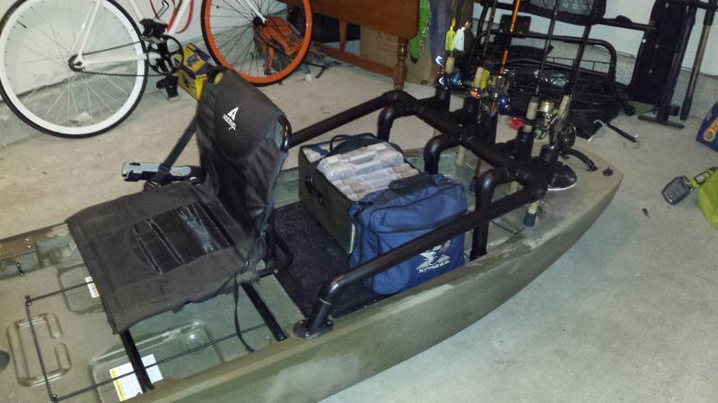 Rigged up my own rod holder for my ascend fs128t for Ascend 12t trolling motor