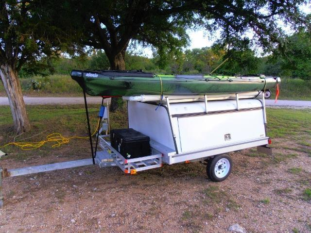 Pictures of your trailer kayak fishing texas fishing forum for Fishing kayak trailer