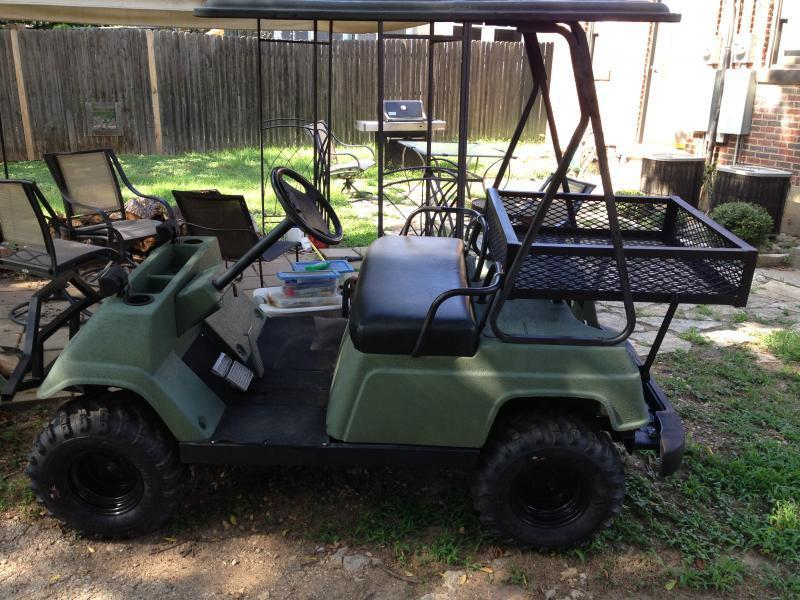 Golf cart for sale gas powered lifted mud tires runs for Fishing carts for sale