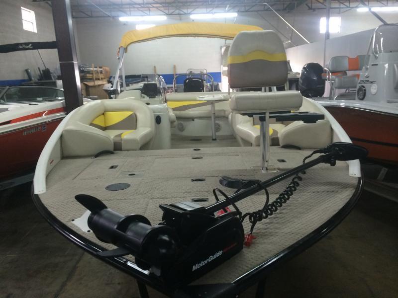 2007 lowe tahiti 224 aluminum fishing deck boat 150 for Fishing deck boats