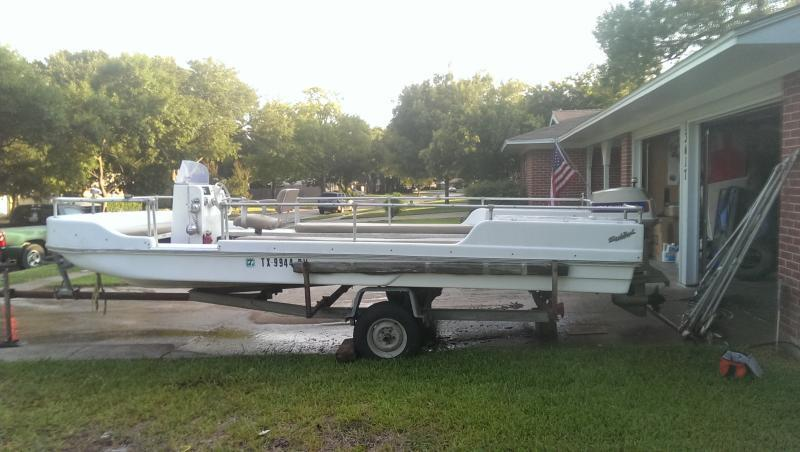 ... canopy was rotted. This was a family boat that we inherited. I have some money in it and the motor runs well. Would be excellent Party Barge or Cat ... & Bubba Style Catfishing Boat   Boats 4 Sale   Texas Fishing Forum