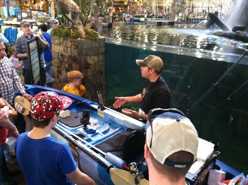 Bass pro shops kayak fishing seminars 2 14 and 2 15 with for Bass pro fishing kayak
