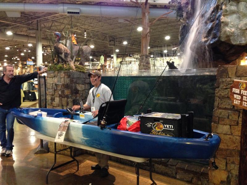 Bass pro shops kayak fishing seminars 2 14 and 2 15 with for Bass pro shop fishing kayaks