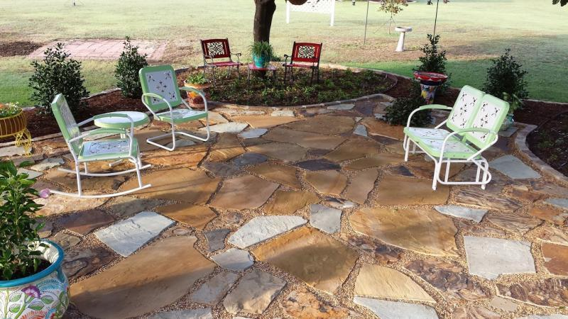 Building a flagstone patio or other suggestions off Flagstone patios colleyville tx