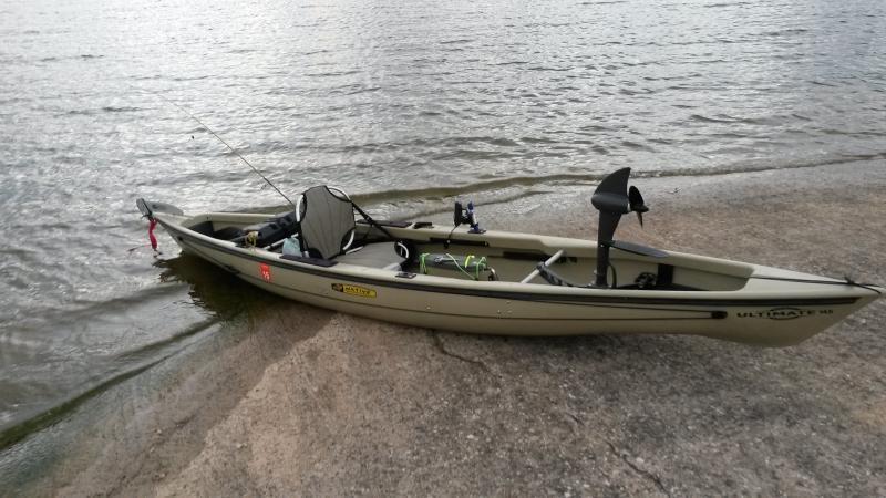 Native ultimate propel 14 5 kayak with volt trolling motor for Native fishing kayak