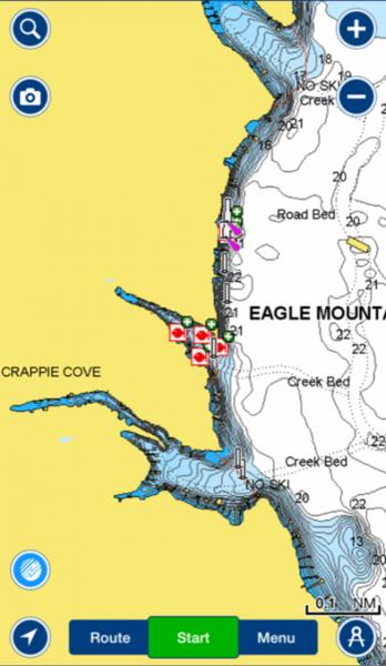 Eagle mountain lake brush piles crappie fishing texas for Eagle mountain lake fishing