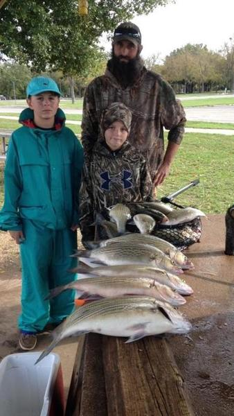 Tawakoni report for saturday 11 7 whites hybrids for Lake tawakoni fishing guides