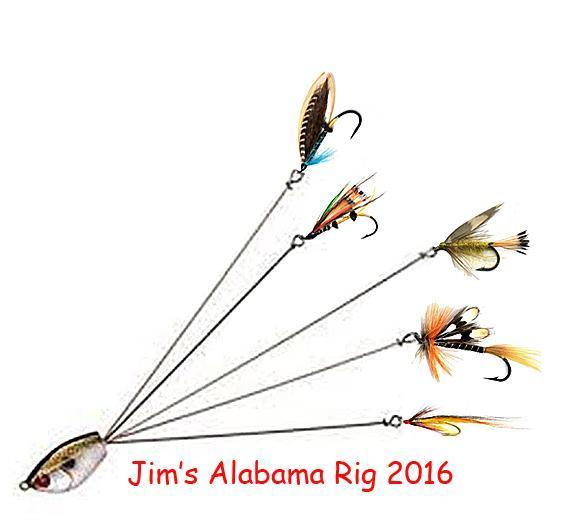 New alabama rig for fly fishing fly fishing texas for Alabama rig fishing