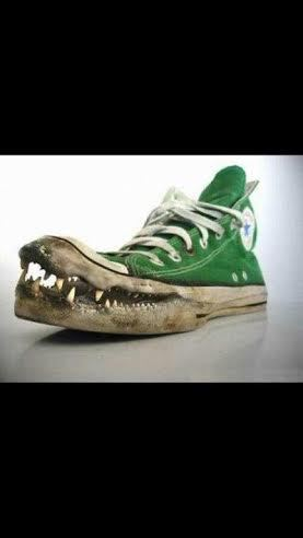 New fishing shoes its a joke guys bass fishing texas for Bass fish slippers