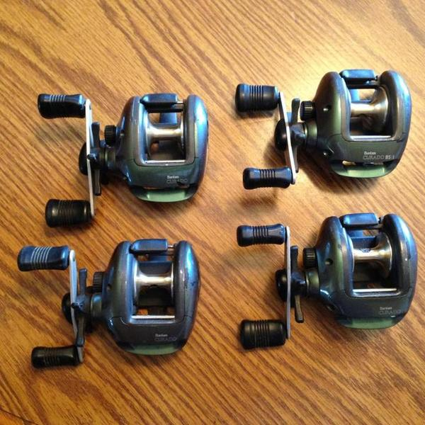 Shimano curado reels for sale two left trading post for Shimano fishing reels for sale