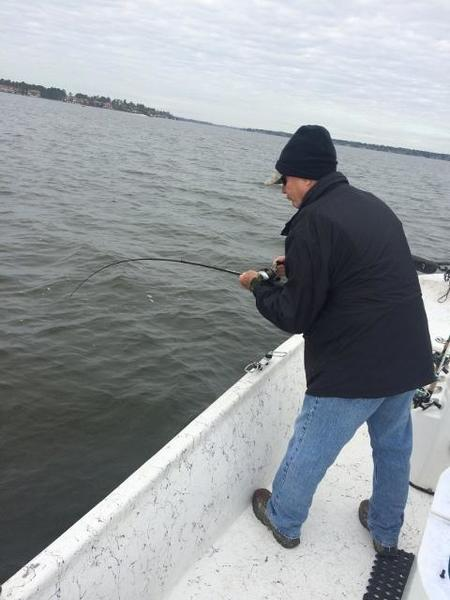 Lake livingston adventures guide report hot white bass for Lake livingston fishing report