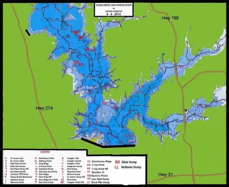 Cedar creek report monday tuesday apr 18 19 whites for Cedar creek lake fishing
