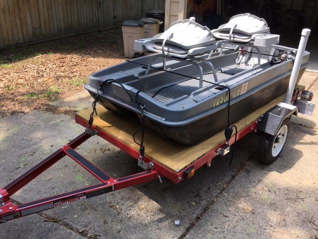 Need info on trailering 2 man pond boat pond boats for Pond fishing boats