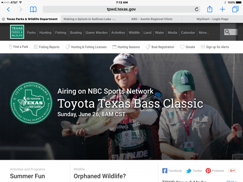 Toyota Texas Bass Classic On Tv This Sunday Plugs