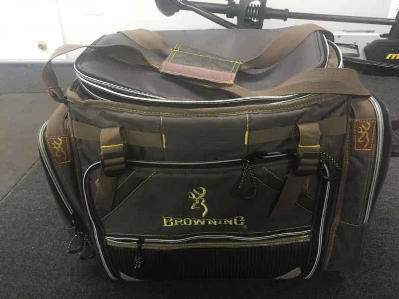 Sold two reels browning tackle bag shimano reel bag for Browning fishing backpack
