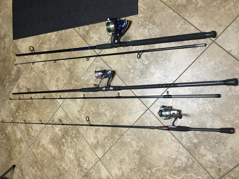 Rods combo for sale surf catfish bass rod trading for Best surf fishing rod and reel combo