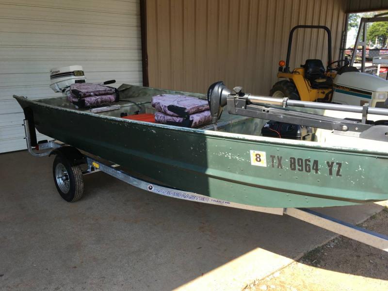 Used 1975 monark jon boat 3495 boats 4 sale texas for Texas fishing forum boats for sale