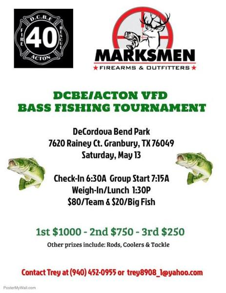 Dcbe acton vfd fishing tournament lake granbury for Fishing tournaments in texas 2017