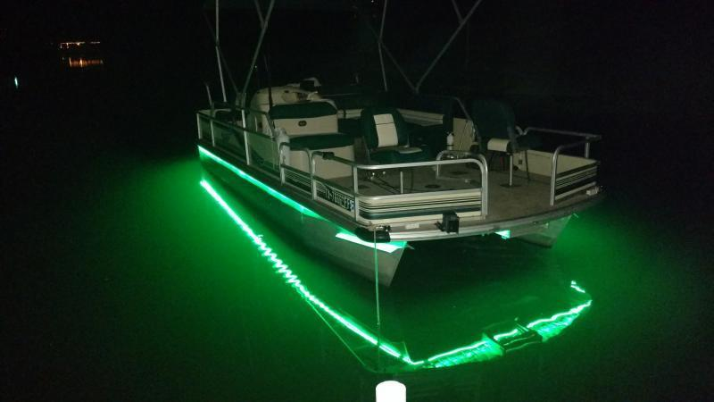 Anyone added led lights for night fishing bass fishing for Best light for night fishing