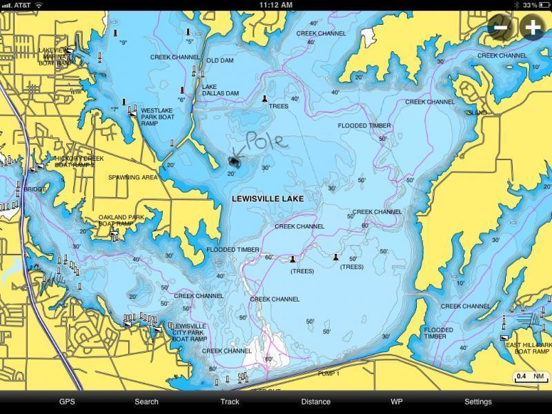 Gravel pits twin poles lewisville lake whites for Lake lewisville fishing