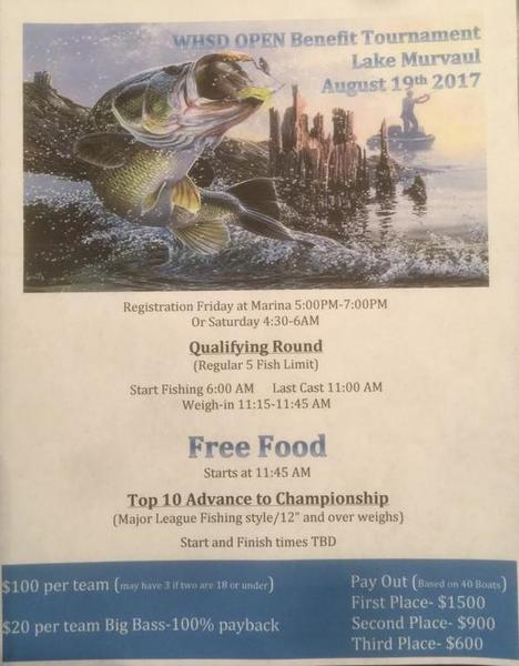 Lake murvaul benefit unique style includes a mlf format for Fishing tournaments in texas 2017