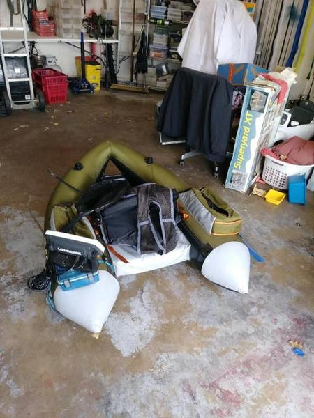 Float tube for sale trading post swap classifieds for Float tube fish finder