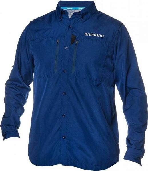 F s shimano volans technical vented long sleeve button for Button down fishing shirts