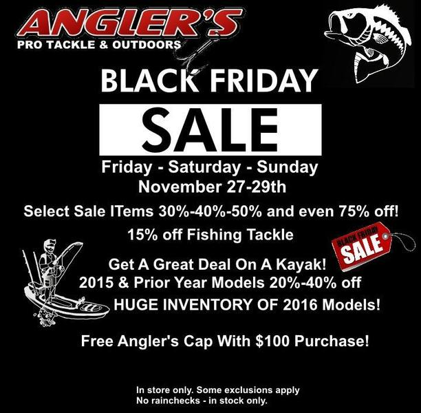 Angler S Pro Tackle Outdoors Black Friday Kayak Event