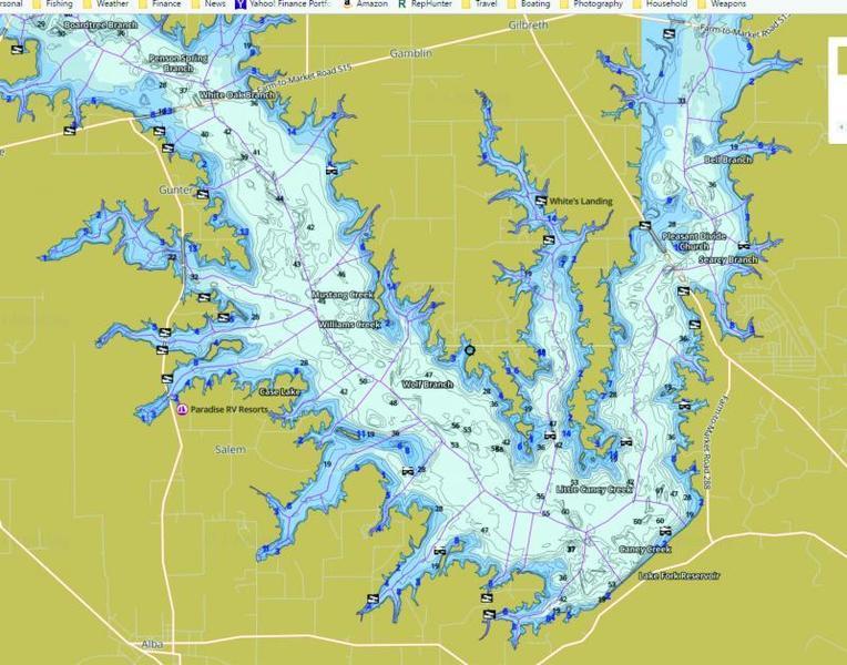Lake Fork Map Lake Fork Navigation Question   Texas Fishing Forum