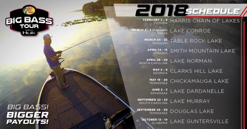 2018 Big Bass Tour Schedule - Texas Fishing Forum