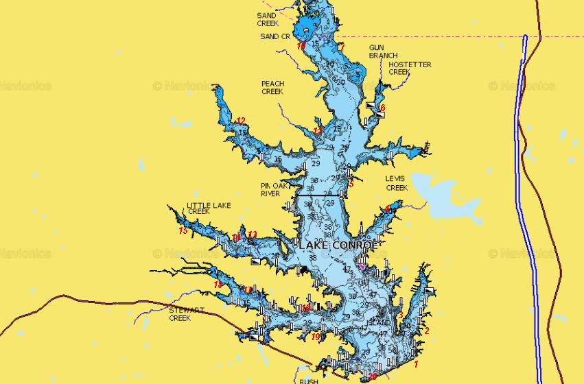 lake conroe fishing map Advice For Lake Conroe Texas Fishing Forum lake conroe fishing map